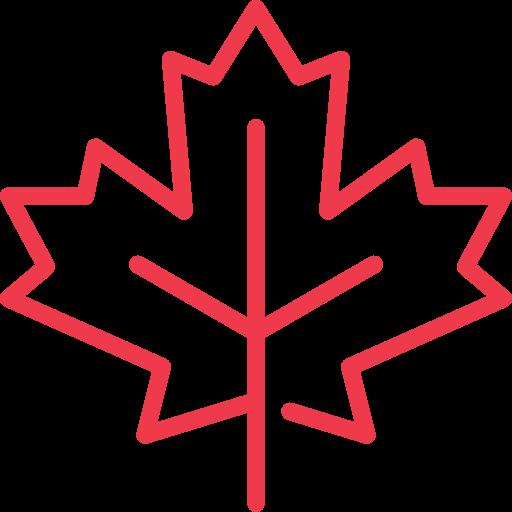 maple leaf canada icon