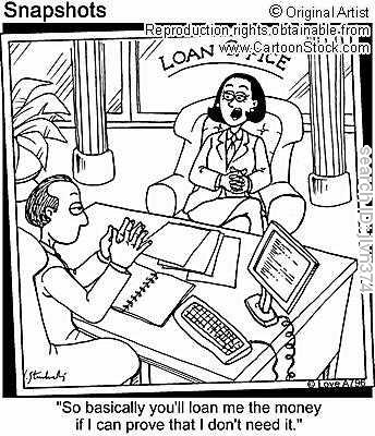 person asking for a loan