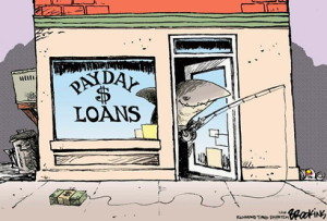 Cartoon - Payday Loans