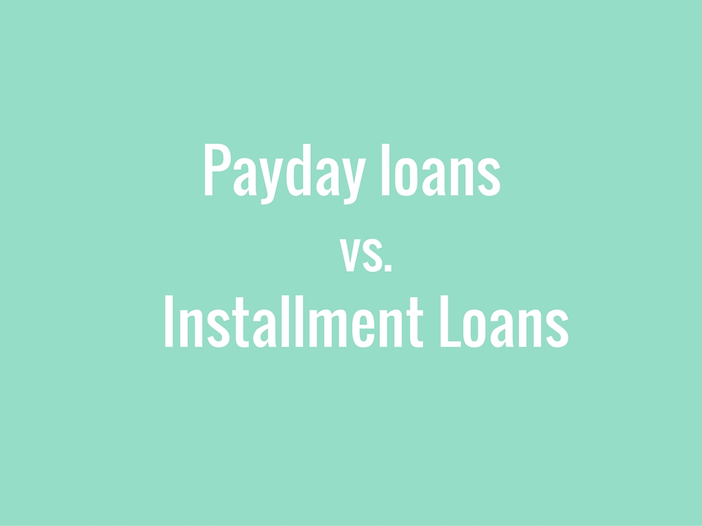 Payday Loans vs Installment Loans Video